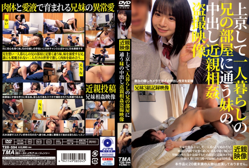【エロ動画】上京して一人暮らしの兄の部屋に通う妹の中出し近親相姦盗撮映像のトップ画像